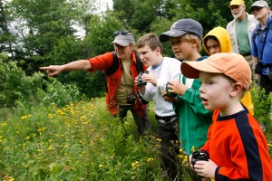 kids exploring